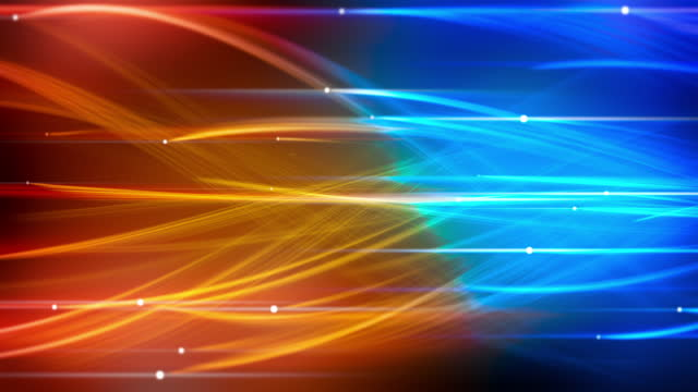 abstract technology futuristic wavy blue and gold lines - complexity stock videos & royalty-free footage