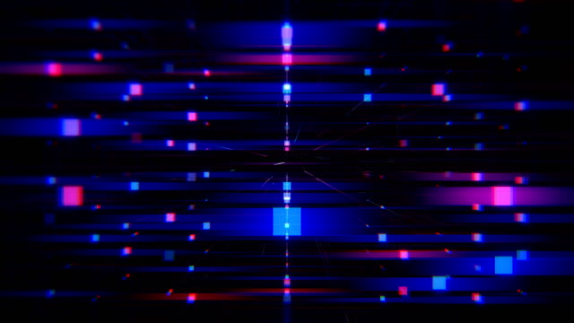 abstract / technology grid rotating loopable background - rectangle stock videos & royalty-free footage