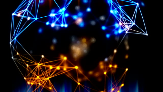 abstract technology loopable background - nanotechnology stock videos & royalty-free footage