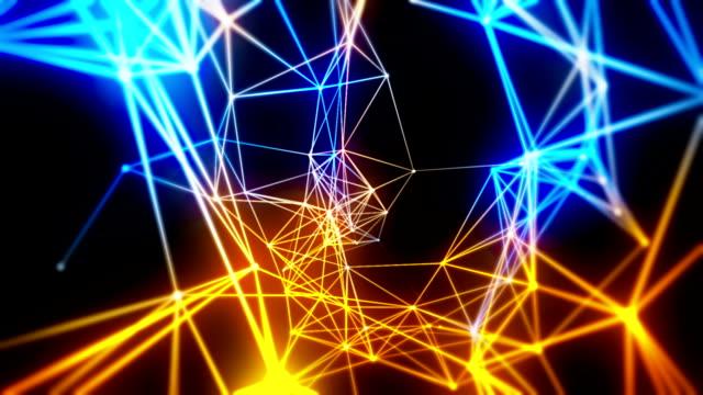 抽象的な技術ループ背景 - 仕事上の関係点の映像素材/bロール