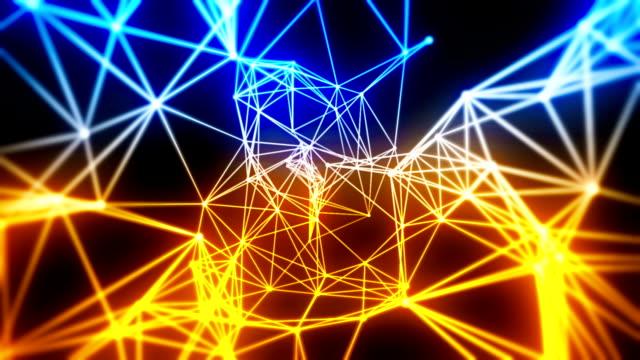 vídeos de stock e filmes b-roll de loopable fundo abstrato tecnologia - axónio