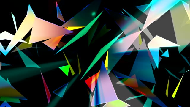 Abstract technology loopable background with triangles