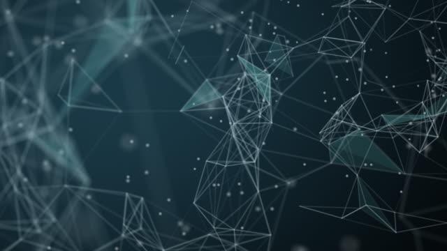 ネットワークまたはソーシャルネットワークの背景の抽象的な技術 - 絵画モデル点の映像素材/bロール