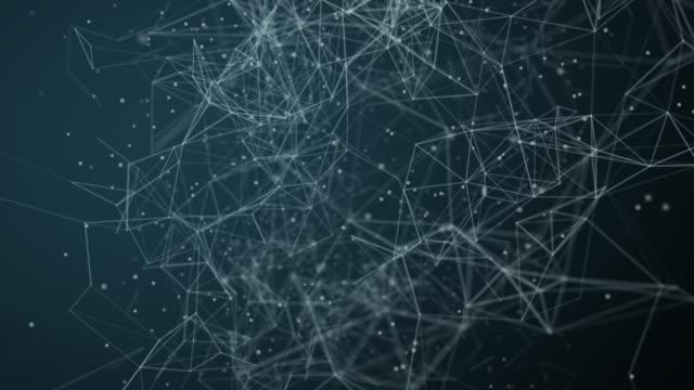 vídeos de stock, filmes e b-roll de tecnologia abstrata da rede ou do fundo social da rede - teia de aranha