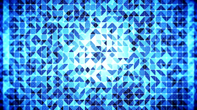 abstract technology / science background with geometric mosaic of changing triangles - mosaic stock videos and b-roll footage