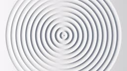 Abstract template with animation of white circular waves