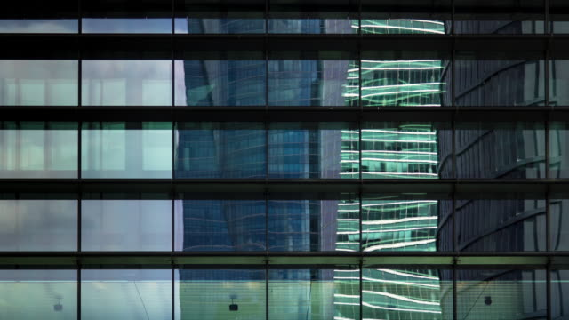 Abstract Timelapse of Modern Architecture at Cuatro Torres, Madrid.