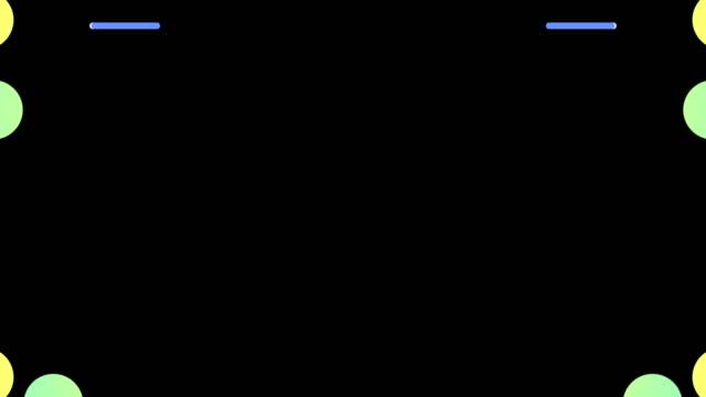 vidéos et rushes de transition abstraite de toon et canal alpha mat - vidéo stock - star shape