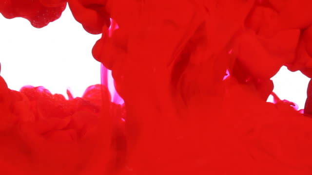 abstract transition color ink hd1080p - red background stock videos & royalty-free footage