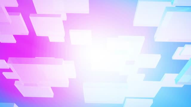 abstrakte trendy animation moderne illustration hintergrund. geometrische formen. 3d-rendering. konzept: neue technologie. - ebene stock-videos und b-roll-filmmaterial