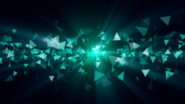 vídeos y material grabado en eventos de stock de fondo del triángulo abstracto - fondo turquesa