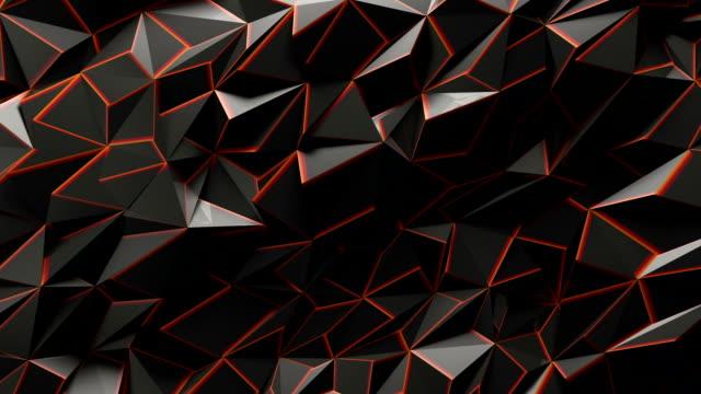 vidéos et rushes de fond géométrique abstrait triangle - origami