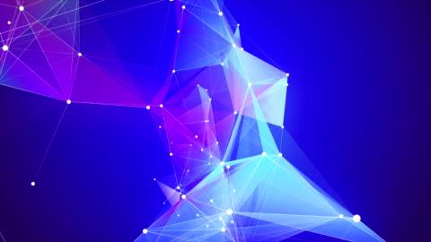 vídeos y material grabado en eventos de stock de forma de triángulo abstracto loopable fondos - fondo colorido