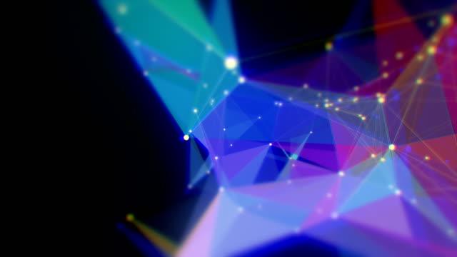 abstrakte dreieck form endlos wiederholbar hintergründe - drahtrahmenmodell stock-videos und b-roll-filmmaterial