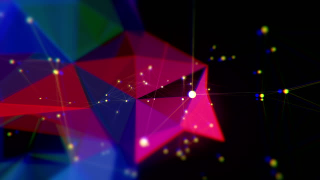 abstract triangle shape loopable backgrounds - refraction stock videos & royalty-free footage