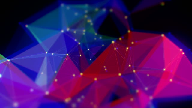 abstract triangle shape loopable backgrounds - computer network stock videos & royalty-free footage