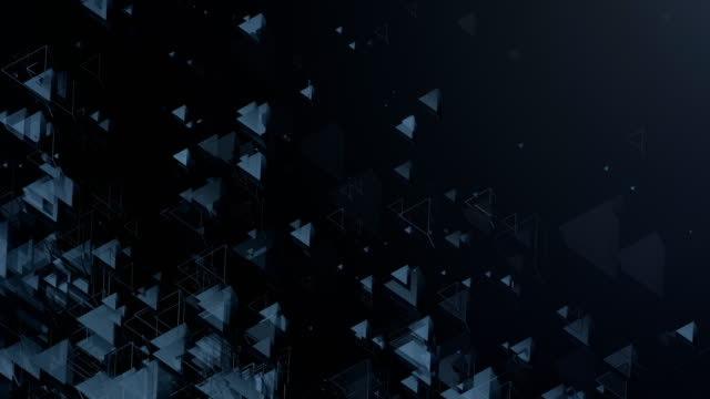 Abstract Triangles Background (Dark) - Loop