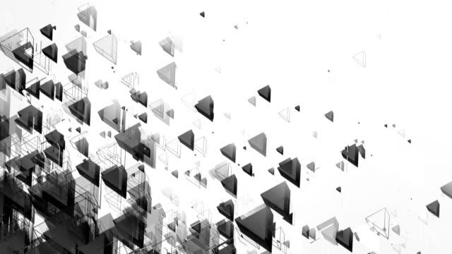 vídeos y material grabado en eventos de stock de abstracta fondo de triángulos (negro y blanco) - lazo - monocromo imagen virada