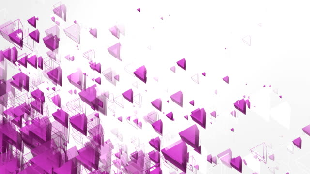 abstract triangles background (purple, bright) - loop - pink background stock videos & royalty-free footage