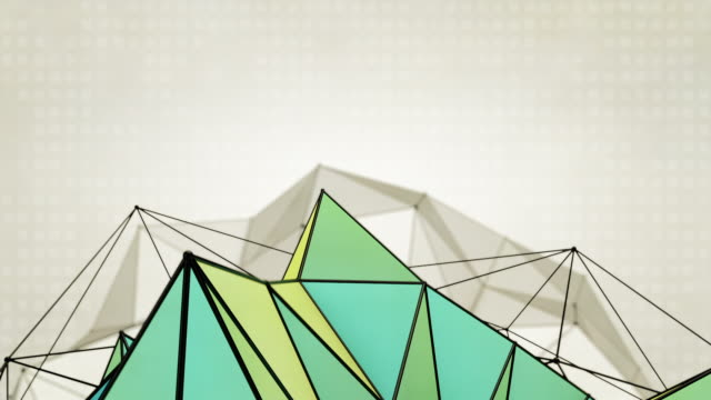 Abstract Triangles Background Loops  2 Variations - Blue Yellow (HD)