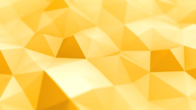 vídeos y material grabado en eventos de stock de triángulos abstractos (en bucle) - fondo naranja