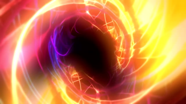 abstract tunnel of glowing lines loopable background animation - spiral stock videos & royalty-free footage