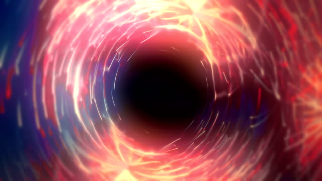 abstract tunnel of glowing lines loopable background animation - distorted stock videos & royalty-free footage