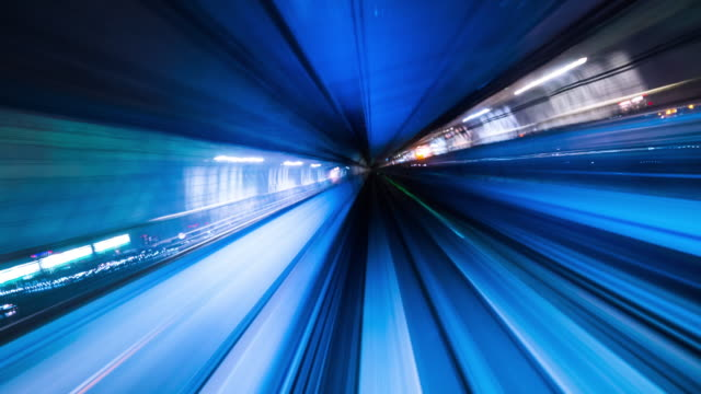 abstract  tunnel - point of view video stock e b–roll