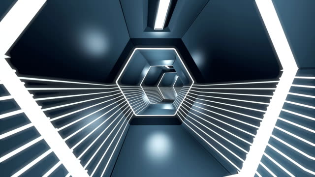 abstract tunnel - razzo spaziale video stock e b–roll