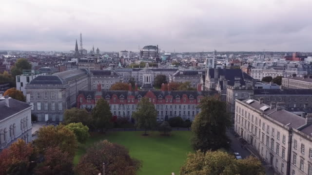abstract view of dublin's trinity college - 4k - trinity college cambridge university stock videos & royalty-free footage