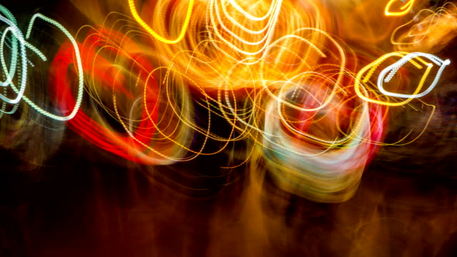 abstract walking in circle way background - multicolore video stock e b–roll