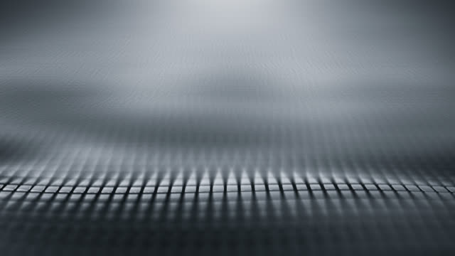 abstract wave background (silver / gray) - loop - silver coloured stock videos & royalty-free footage
