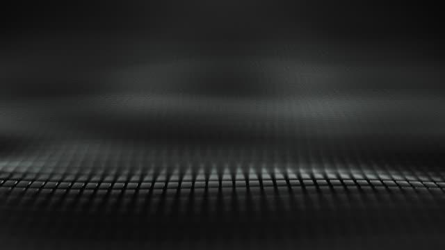 vídeos de stock, filmes e b-roll de fundo abstrato da onda (preto)-laço - esparso