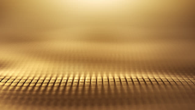 abstrakte welle hintergrund (gold) - schleife - gold colored stock-videos und b-roll-filmmaterial