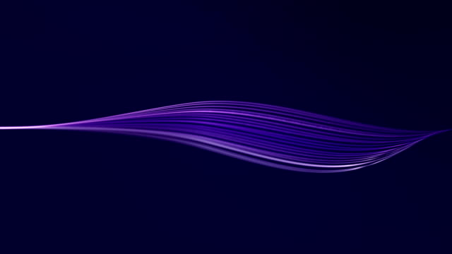 abstract wave lines infinite loop - purple stock videos & royalty-free footage