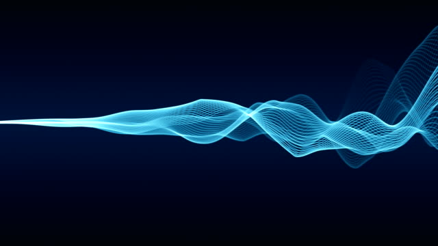abstract wave lines (loop 4k) - linea video stock e b–roll