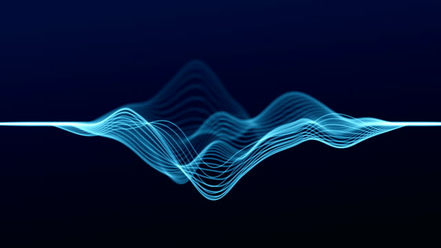 abstract wave lines (loop 4k) - sound wave stock videos & royalty-free footage