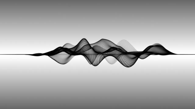 abstract wave lines (loop 4k) - chart stock videos & royalty-free footage
