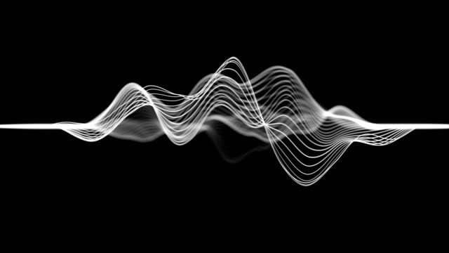 abstract wave lines (loop 4k) - black and white stock videos & royalty-free footage