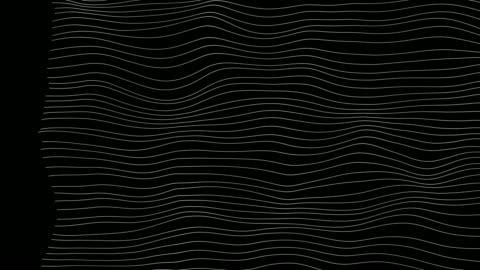 vídeos y material grabado en eventos de stock de líneas de onda abstractas (bucle 4k) - cordel