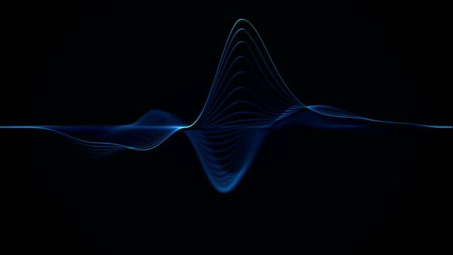 abstract wave lines (loop) - in a row stock videos & royalty-free footage