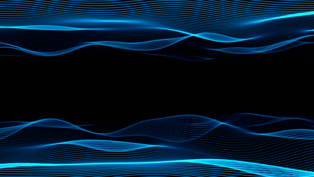 abstrakte wellenoberfläche (loop 4k) - schallwelle stock-videos und b-roll-filmmaterial