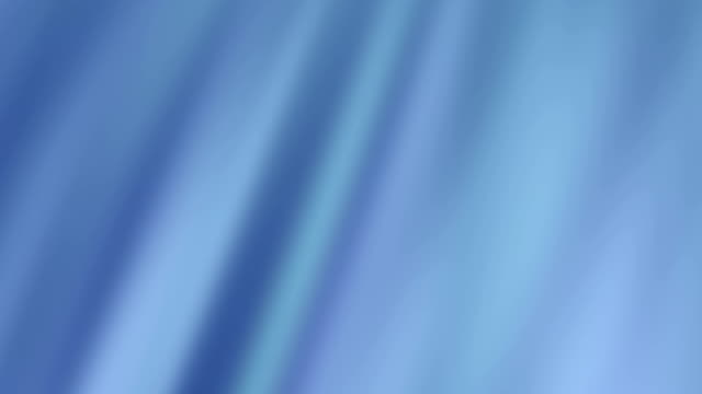 Abstract Waved Blue Silk Fabric