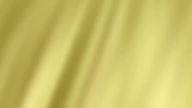 Abstract Waved Gold Silk Fabric