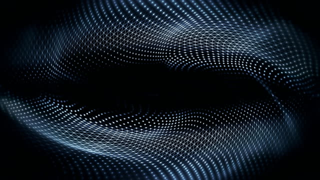 abstract waves background (black) - loop - quantum physics stock videos & royalty-free footage