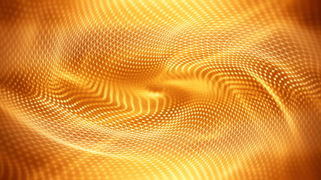 abstract waves background (gold / yellow) - loop - yellow background stock videos & royalty-free footage