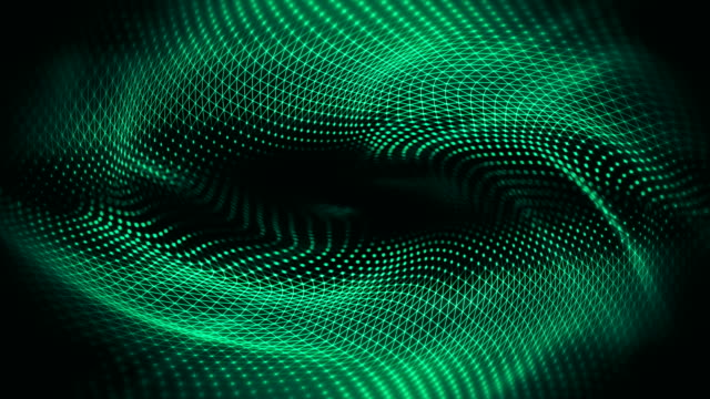 abstract waves background (green) - loop - spiral stock videos & royalty-free footage