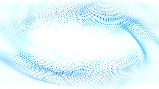 abstract waves background (bright) - loop - white color stock videos & royalty-free footage