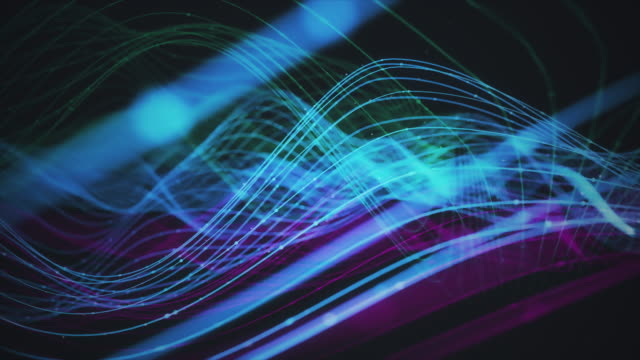 abstract waving data with organic light trails - bandwidth stock videos & royalty-free footage