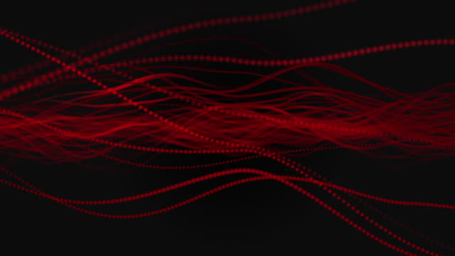 abstract waving particle lines on dark background - squiggle stock videos and b-roll footage